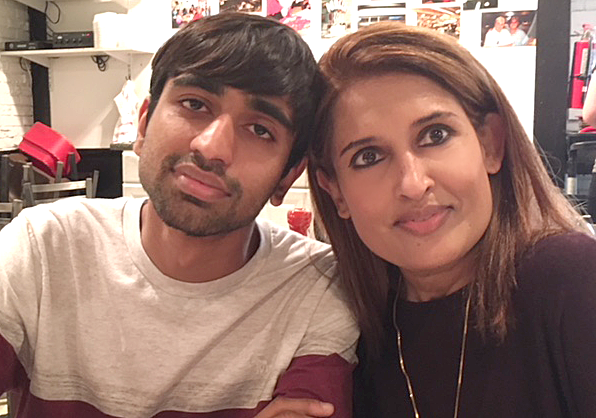 Shonak Patel and his mother, Monica.